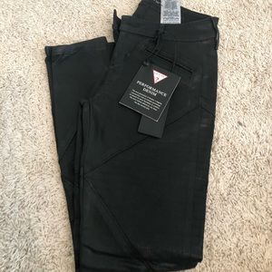 Guess moto leather like black jeans